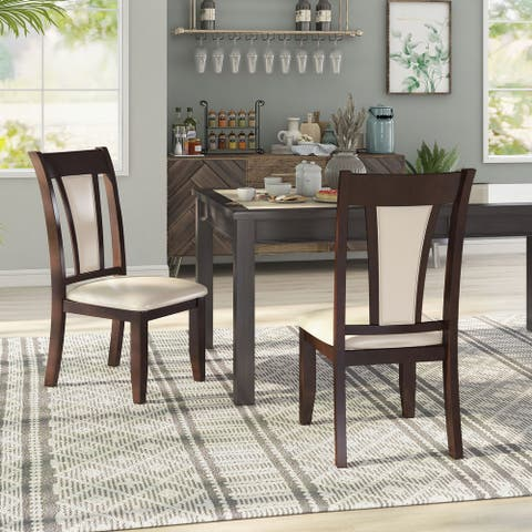 Furniture of America Dark Cherry Dining Chair (Set of 2)