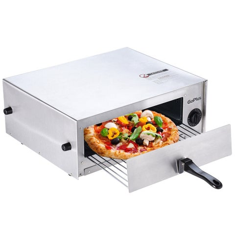 Goplus Kitchen Commercial Pizza Stainless Steel Counter Top Snack Pan Oven Bake