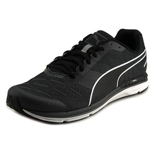 Puma Speed 300 Ignite Men Round Toe Canvas Black Running Shoe