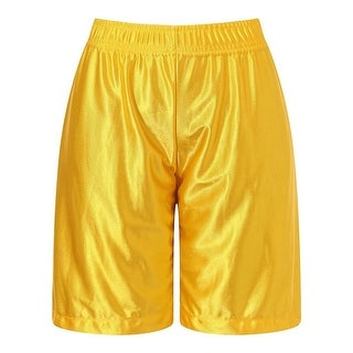 Richie House Little Boys Yellow Leisure Classic Smooth Sports Shorts 6-7