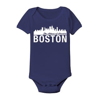 City Skyline Boston Cool Funny Infant One Piece
