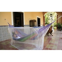 Sunnydaze Extra Large Hammock Mosquito Net, 78 Inch Long x 36 Inch Wide - White