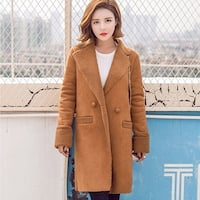 Fashion Women Winter Warm Suede Thicker Coat Jacket Outwear Lambswool Overcoat