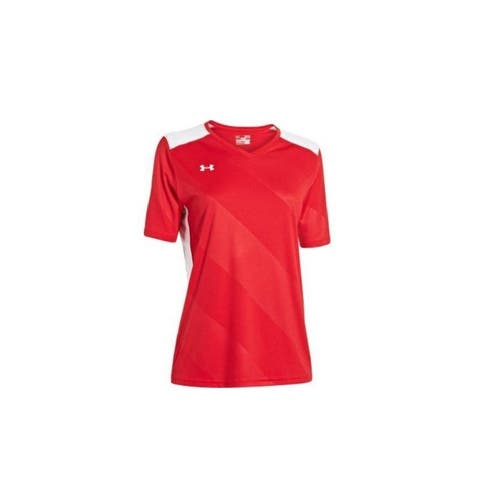 Under Armour Women's Fixture Jersey T-Shirt Red
