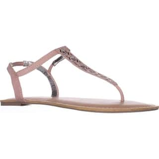 f4761f96969 Material Girl Womens Swan2 Split Toe Casual Ankle Strap Sandals · Quick View
