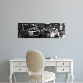 Easy Art Prints Panoramic Image 'Aerial city at night, Midtown Manhattan, New York City, New York' Canvas Art