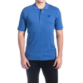 Versace Men's Cotton Medusa Logo Polo Shirt Royal Blue