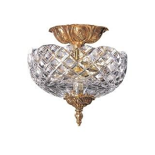 Link to Crystorama 2 Light Olde Brass Cast Brass Ceiling Mount III - 10'' W x 10'' H Similar Items in Billiards & Pool