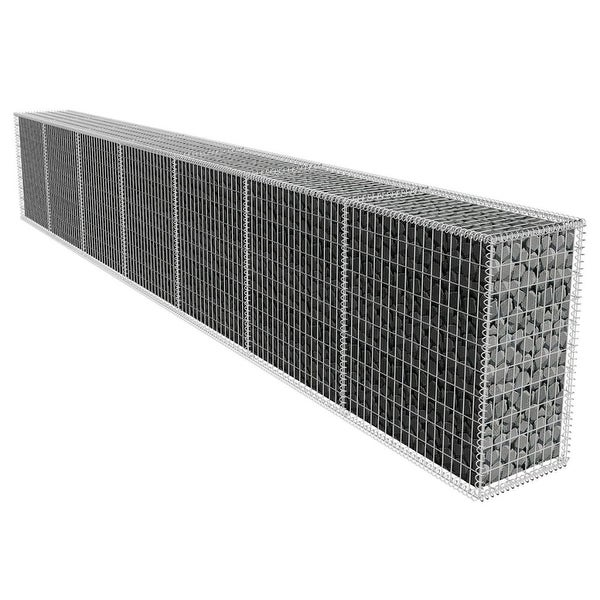 vidaXL Gabion Wall with Cover 19.7'x1.6'x3.3'. Opens flyout.
