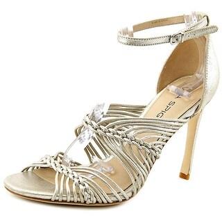 Via Spiga Dorian Women Open Toe Leather Gold Sandals