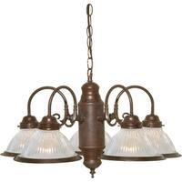 """Nuvo Lighting 76/445 5-Light 22"""" Wide Chandelier - Old Bronze"""