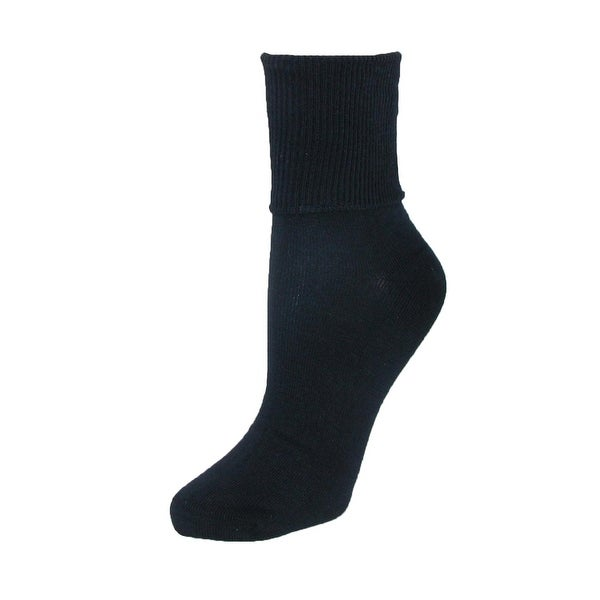 Jefferies Socks Women's Plus Size Cotton Turn Cuff Sock