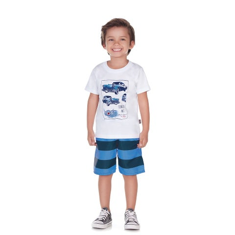 Pulla Bulla Toddler Boy 2-Piece Set Shirt and Shorts Outfit