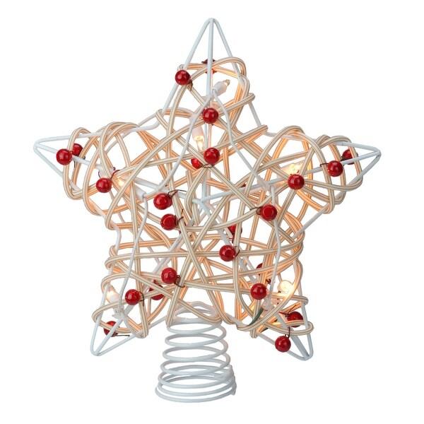 Berry Christmas Tree Lights: Shop 12 Lighted White Birch Berry Star Christmas Tree