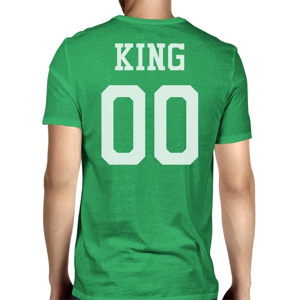 King 00 Back Number Green Couple T-shirt Perfect For Amusement park