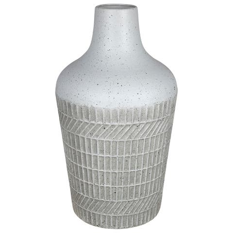 Stratton Home Decor Two Tone Textured Vase