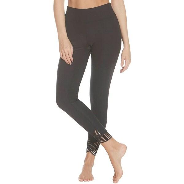 Splendid Women's Quick Dry Striped Trim Activewear Fitness Leggings - Black - XS. Opens flyout.