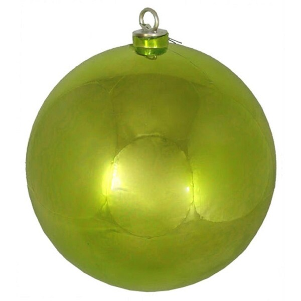 "Shiny Green Kiwi Commercial Shatterproof Christmas Ball Ornament 12"" (300MM)"