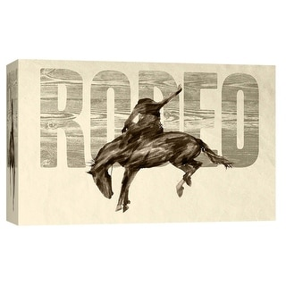 "PTM Images 9-103713  PTM Canvas Collection 8"" x 10"" - ""Rodeo"" Giclee American Art Print on Canvas"