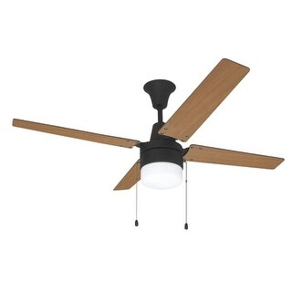 """Ellington Fans UBW48 Wakefield 48"""" 4 Blade Hanging Indoor Ceiling Fan with Reversible Motor, Blades and Light Kit"""