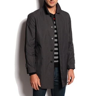 CALVIN KLEIN NEW Black Mens Size 38R Single-Breasted Rainwear Coat
