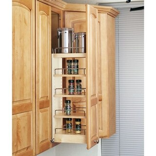 """Rev-A-Shelf 448-WC-8C 448 Series 12"""" Upper Cabinet Pull Out Shelves - Natural"""