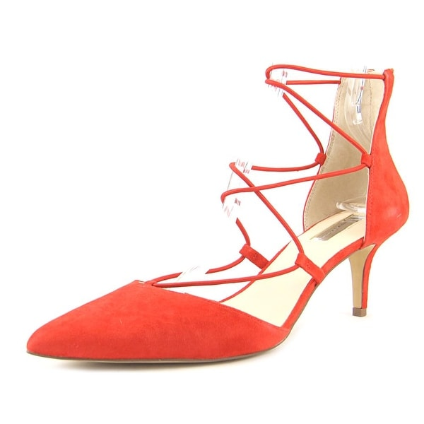 INC International Concepts Dare Women Open-Toe Leather Red Heels