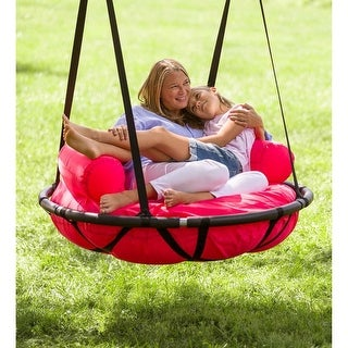 Link to HearthSong 46-in. Cozy Cushion Nest Swing - One-Size Similar Items in Outdoor Play