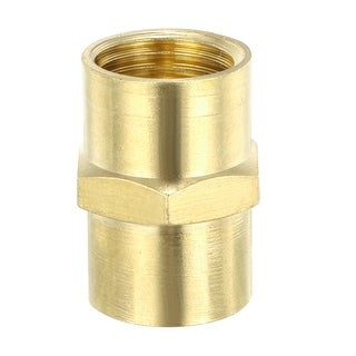 "Brass Pipe Fitting , Equal Coupling Hex Head, 1/4"" NPT ×1/4"" NPT Female , 3pcs - Brass Pipe Fitting"