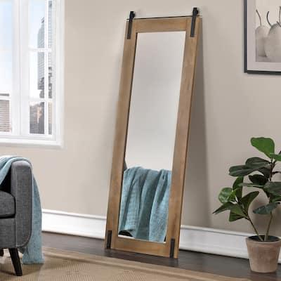 FirsTime & Co. Walnut Monet Farm Door Full Length Standing Mirror, Wood