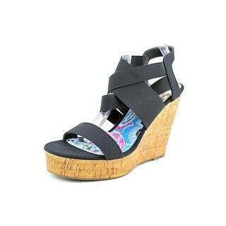 Madden Girl Eastt   Open Toe Canvas  Wedge Sandal