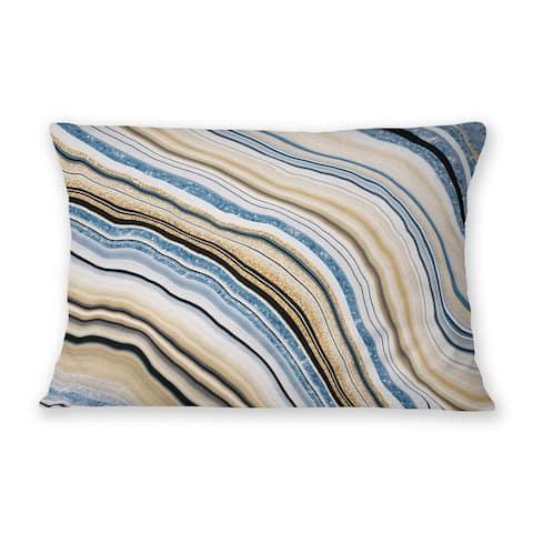 AGATE BLUE Indoor Outdoor Lumbar Pillow By Marina Gutierrez