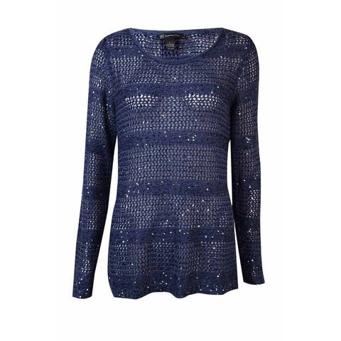 INC International Concepts Women's Sequined Sheer Sweater