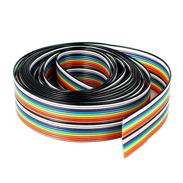 8Ft Long 1mm Pitch 20pin 20 Wire Flat IDC Ribbon Cable Cord 25mm Wide Colorful