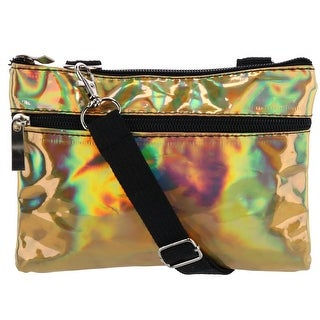 2 Moda Iridescent Fashion Convertible Waist Pack Cross Body Bag - One size