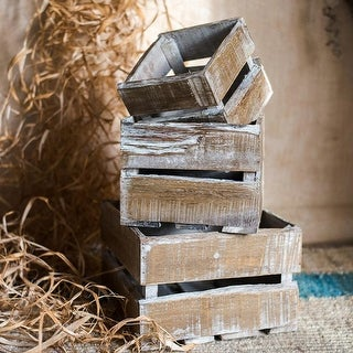 RusticReach Square Cube Solid Wood Crates