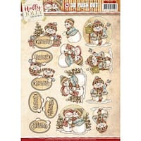 Find It Trading Yvonne Creations Punchout Sheet-Holly Jolly Snowman