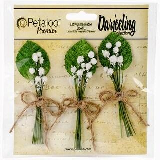 "Darjeeling Baby's Breath Bunch 3"" 3/Pkg-White W/Natural Twine"
