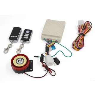 Unique BargainsMotorcycle Anti-theft Security Alarm System Engine Start 125dB w Remote Controlc