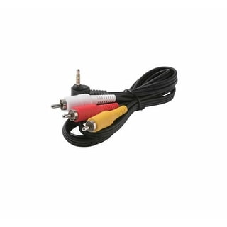 Steren ST-255-219M 6' 3.5mm to 3-RCA Camcorder Cable