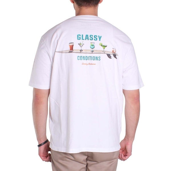 Tommy Bahama Glassy Conditions Small White T-Shirt
