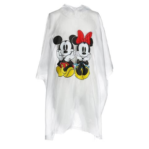 Disney Mickey and Minnie Mouse Rain Poncho - Clear - one size