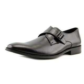 Kenneth Cole Reaction Sit-Up Men  Round Toe Leather Black Loafer