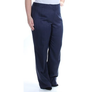 LE SUIT Womens New 1356 Navy Straight leg Wear To Work Pants 16 B+B