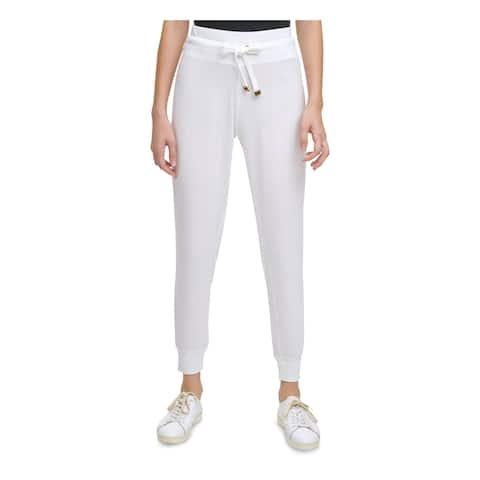 CALVIN KLEIN Womens Ivory Lounge Pants Size L