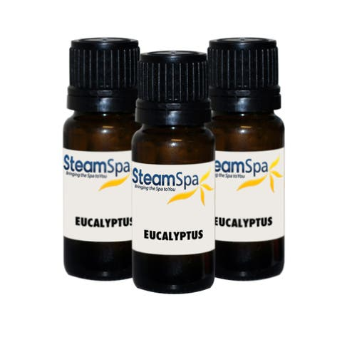 SteamSpa G-OILEUC3 Eucalyptus Aromatherapy Essential Oil for Steam Shower System - Value Pack of 3