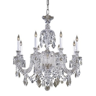 """Metropolitan N9006 8 Light 31"""" Width 1 Tier Candle Style Crystal Chandelier from - clear crystals"""