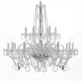 Swarovski Crystal Trimmed Chandelier! Crystal Chandelier Lighting - Silver