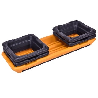 """Link to Fitness Aerobic Step 43"""" Cardio Adjust 4"""" - 6"""" - 8"""" Exercise Stepper - Orange Similar Items in Fitness & Exercise Equipment"""