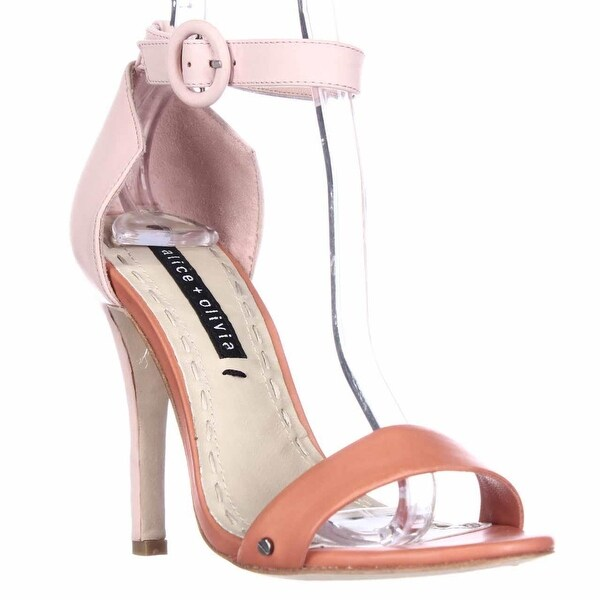 Alice and Olivia by Stacey Bendet Gala Ankle Strap Dress Sandals, Sunset/Light Pink